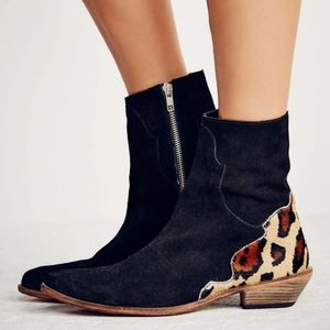 《Free People》Last Outlaw Leather Booties 8 (38)